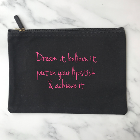 Dream It Organic Cotton Make Up Bag