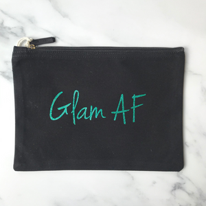 GLAM AF Organic Cotton Make Up Bag
