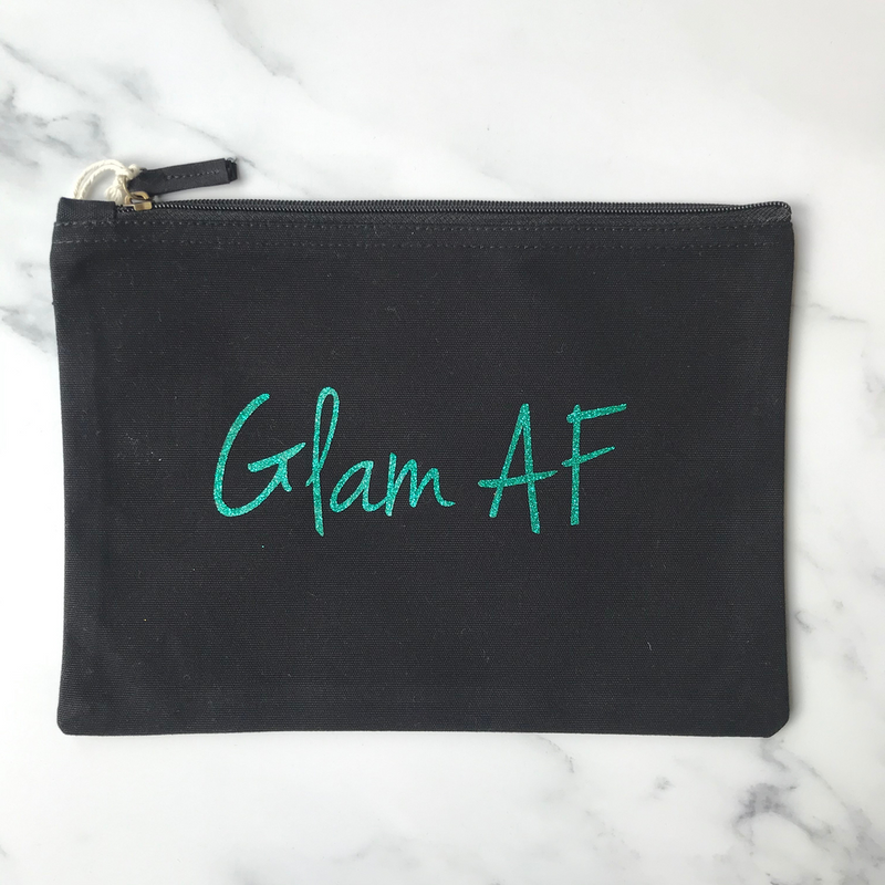 GLAM AF Make Up Bag / Accessory Pouch
