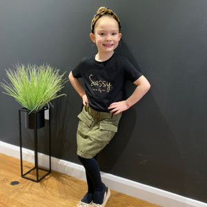 Sassy (Leopard) Organic Cotton Kids T-shirt