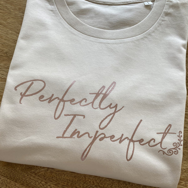 Perfectly Imperfect Organic Cotton T-shirt      (Rose Gold)