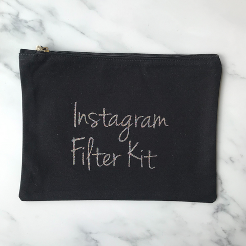 Instagram Filter Kit Organic Cotton Make Up Bag