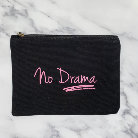 No Drama Organic Cotton Make Up Bag