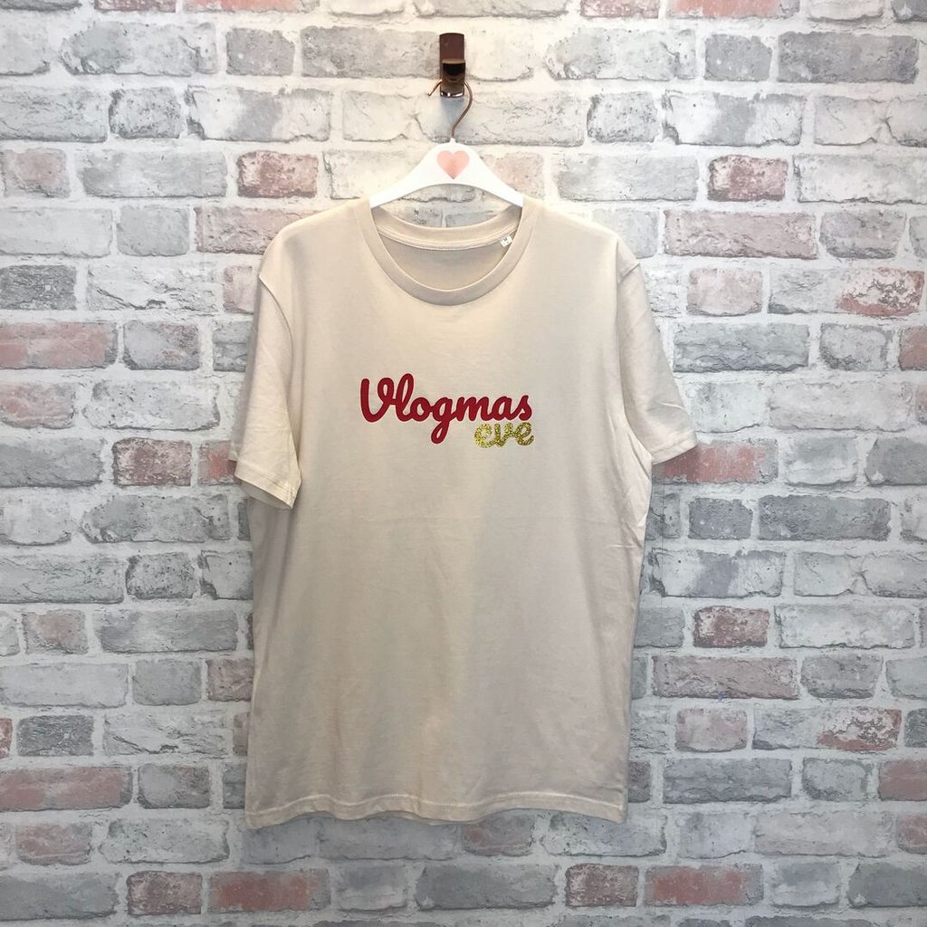 LIMITED EDITION - Vlogmas Eve T-Shirt - Vintage White
