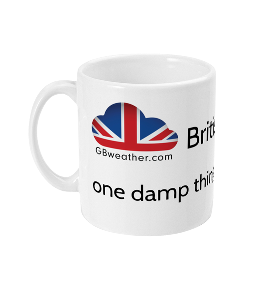 11oz Mug British weather: one damp thing after another