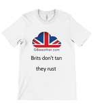 Canvas Unisex Crew Neck T-Shirt Brits don't tan they rust