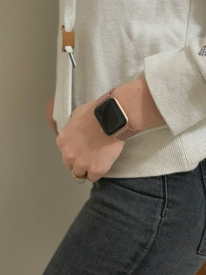 'Boss-Babe' - Rose-Gold Milanese Loop for Apple Watch
