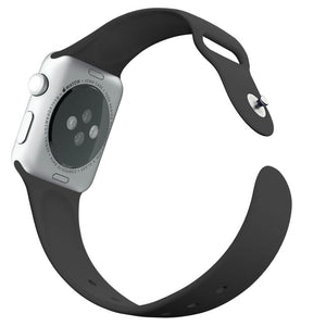 'TechSmart' - Silicone Band - Black - Apple Watch Compatable