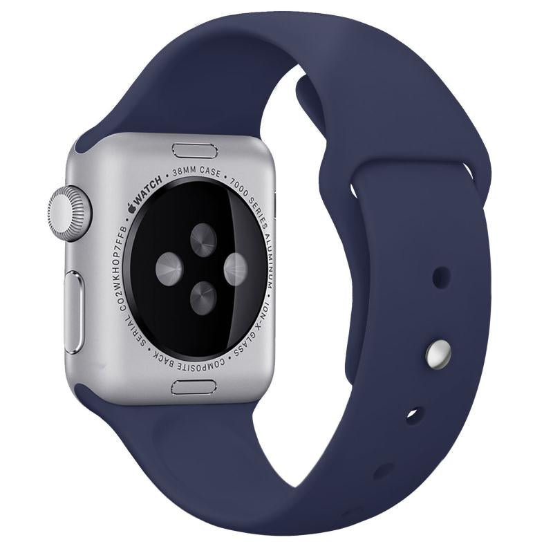 'TechSmart' - Silicone Band- Midnight Blue - Apple Watch Compatible