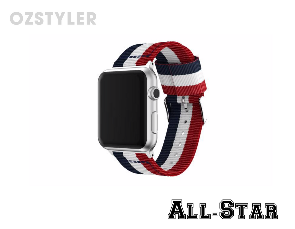 'All-Star' Nato / Zulu Style Band for Apple Watch