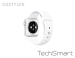 'TechSmart' - Silicone Band - White - Apple Watch Compatable