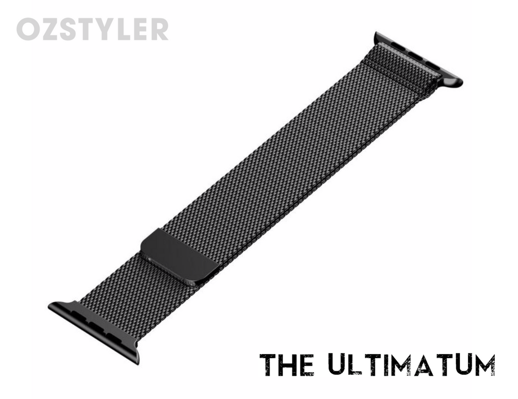 'The Ultimatum' - Black Milanese Loop for Apple Watch