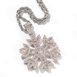 Snowflake Pendant With Necklace
