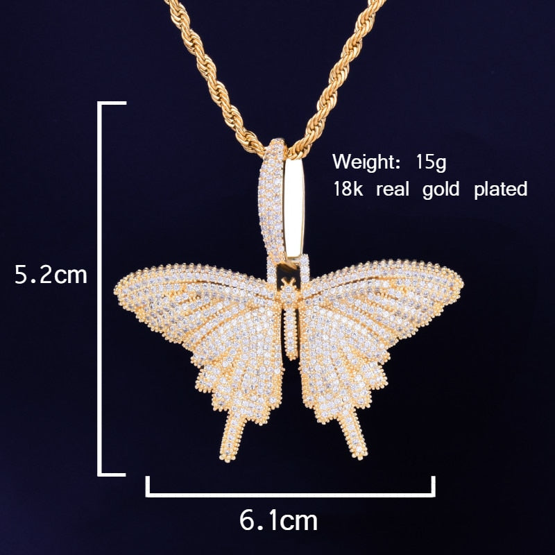 Butterfly Pendant With Necklace