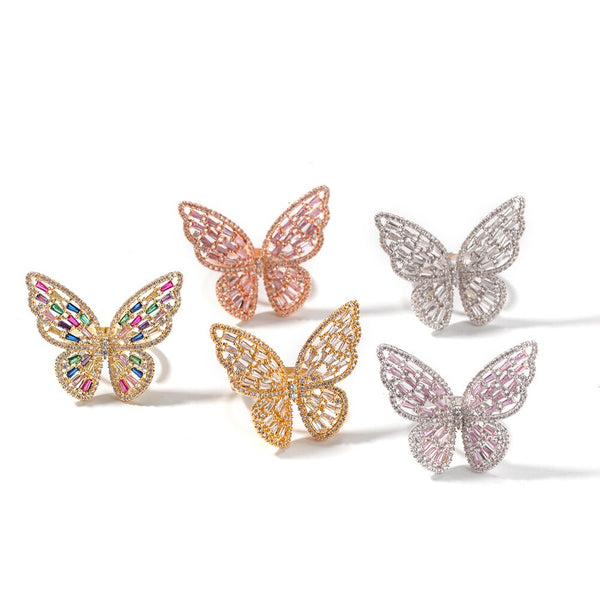 Kristi Adjustable Butterfly Ring (Adjustable)