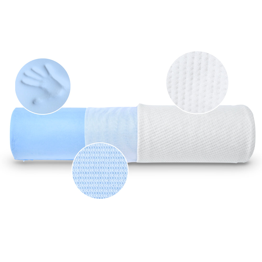 Cooling Gel Memory Foam Neck Relief Cervical Roll Pillow Insert