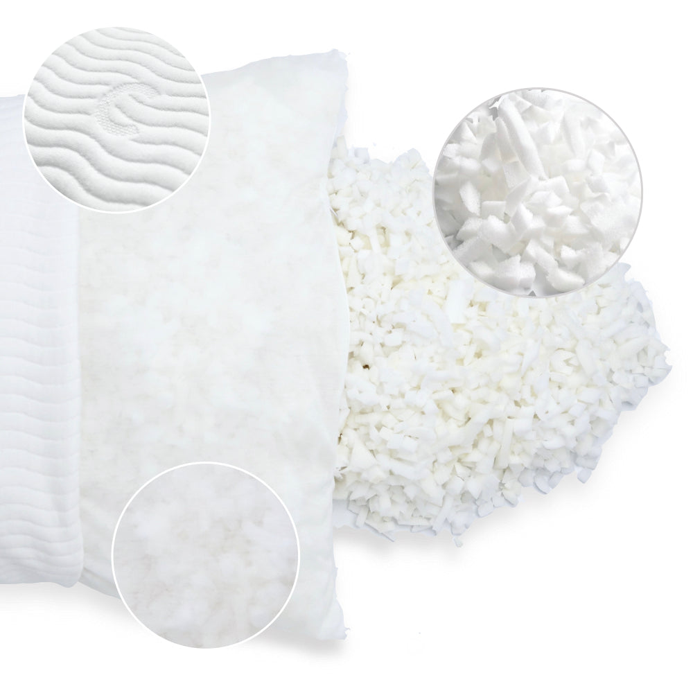 Cushion Lab Adjustable Shredded Memory Foam Pillow Materials
