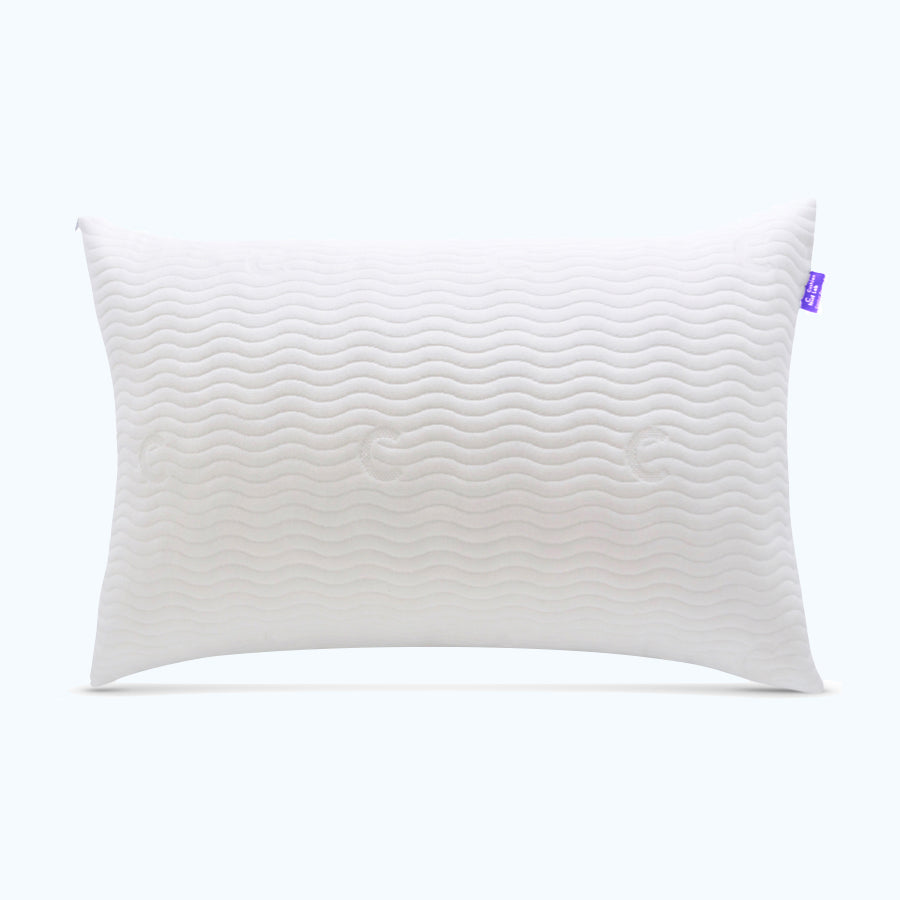 Cushion Lab Adjustable Shredded Memory Foam Pillow, Hypoallergenic Bamboo Pillow for Side Sleepers and Back Sleepers and Stomach Sleepers