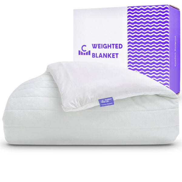 weighted blanket 15lbs for adults with cotton and duvet cover