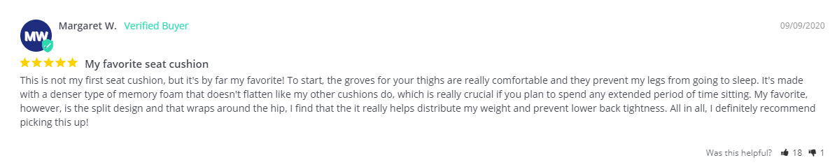 Margaret W. customer review