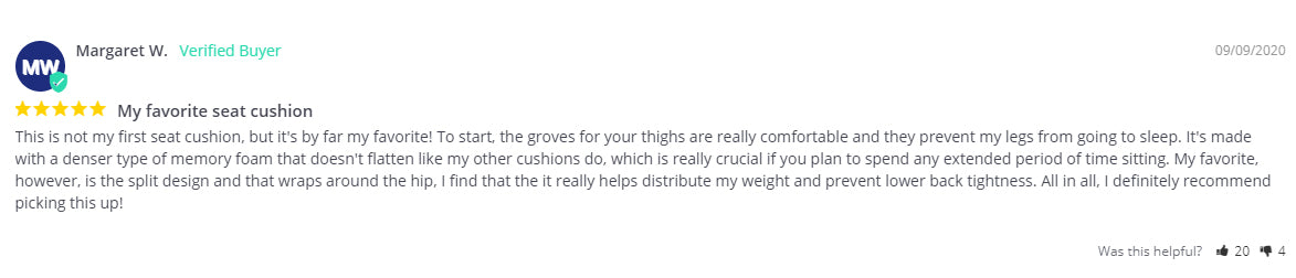 Margaret W Customer Review