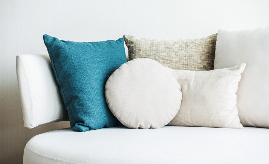 different pillow-type shapes, with cover material