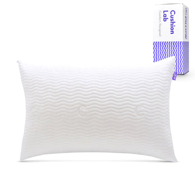 Extra Support Adjustable Shredded Memory Foam Pillow for Back, Stomach, Side Sleeper - Sleep Comfort & Neck Support Bamboo Pillow, CertiPUR US, Queen Size