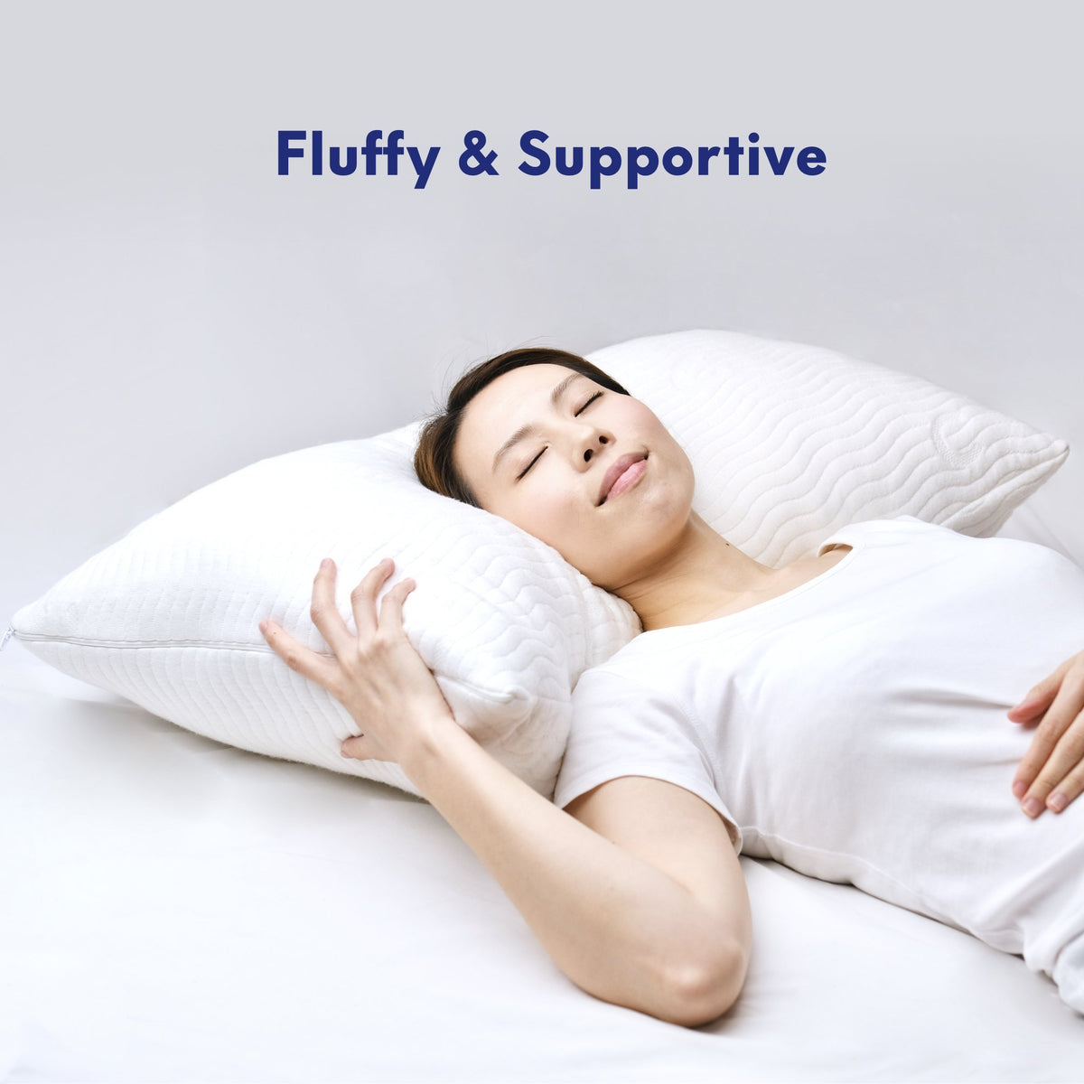 Cushion Lab Adjustable Shredded Memory Foam Pillow Sleeping Image