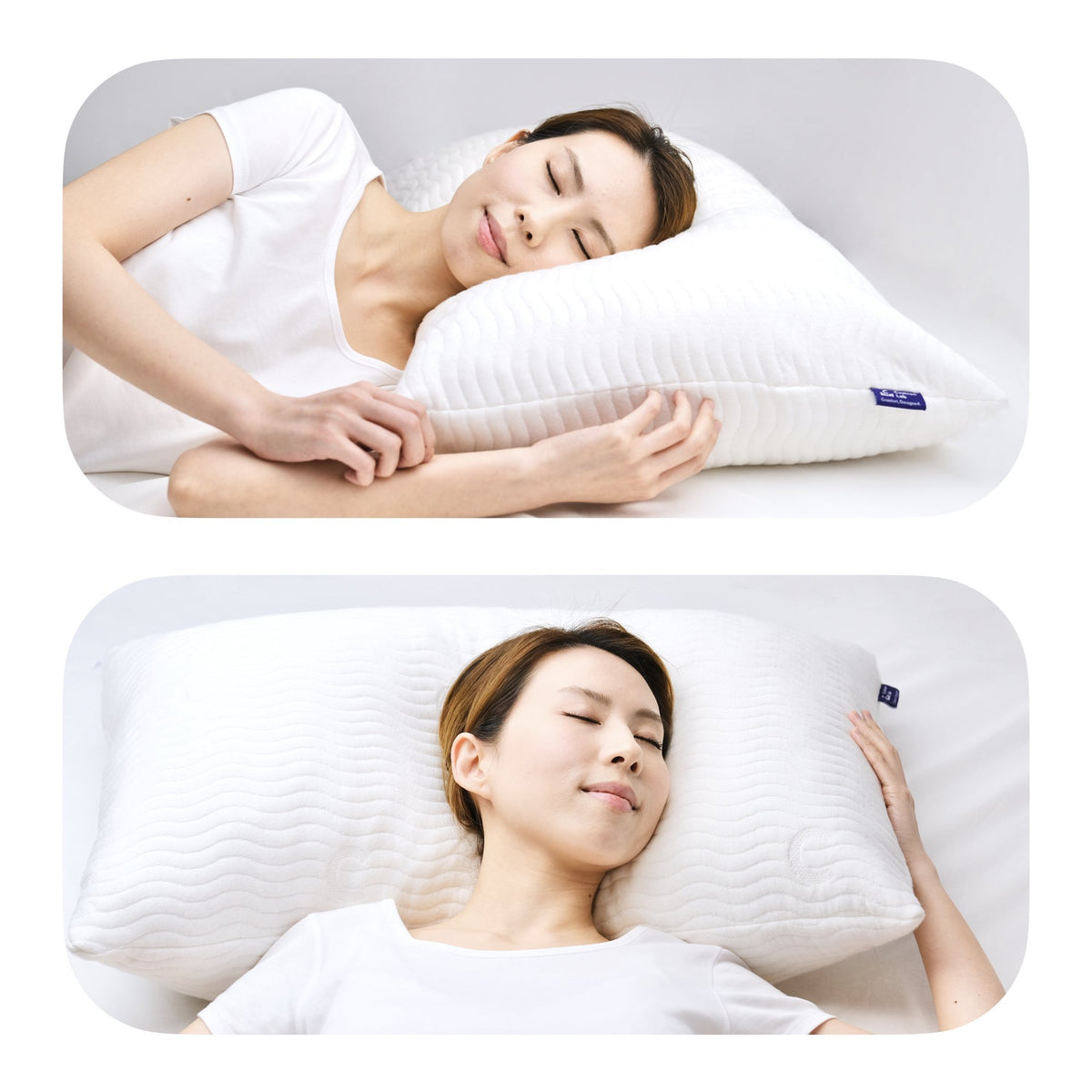 Cushion Lab Adjustable Shredded Memory Foam Pillow Different Sleeping Styles Image