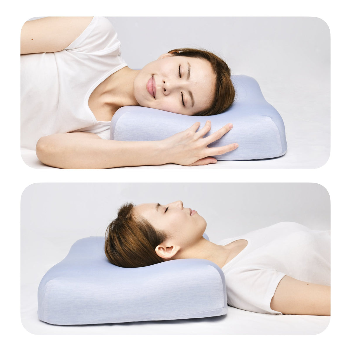Cooling Ergonomic Contour Pillow Sleeping - Cushion Lab