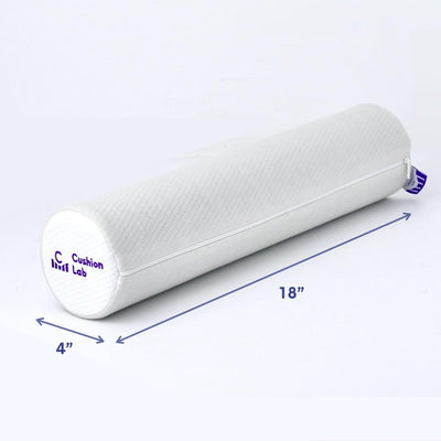 Memory Foam Round Cylinder Bolster for Cervical Support Neck Relief Neck Roll Pillow Dimensions - Cushion Lab