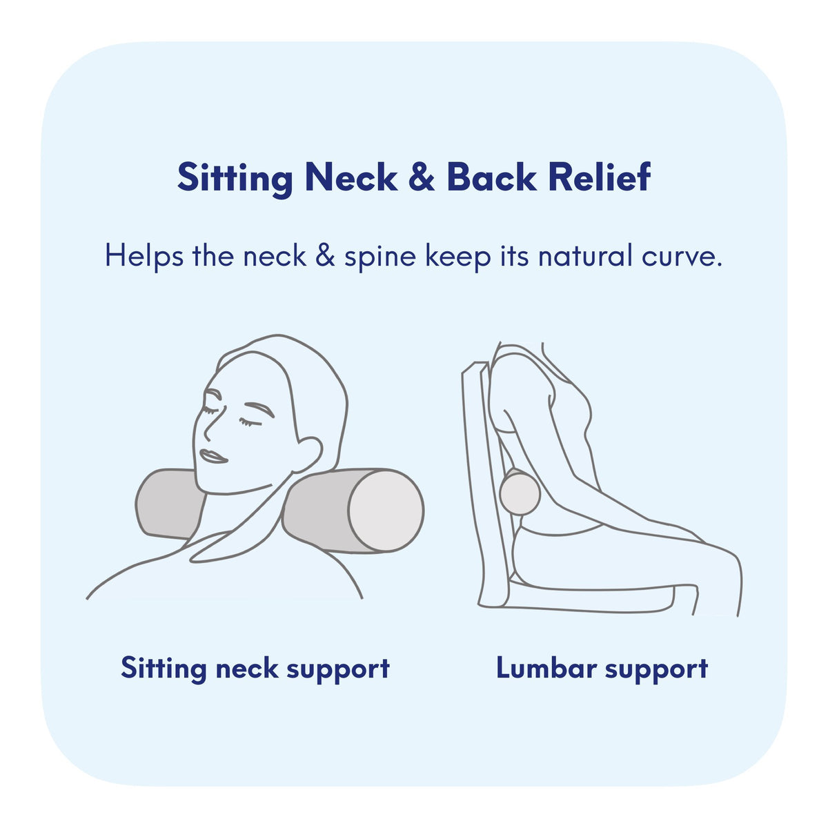 Neck Relief Neck Roll Pillow for Lumbar Support and Cervical Neck Support - Cushion Lab