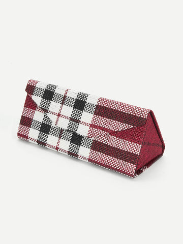 Plaid Sunglasses Case