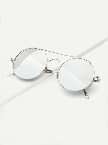 Men Mirror Shades (Silver)