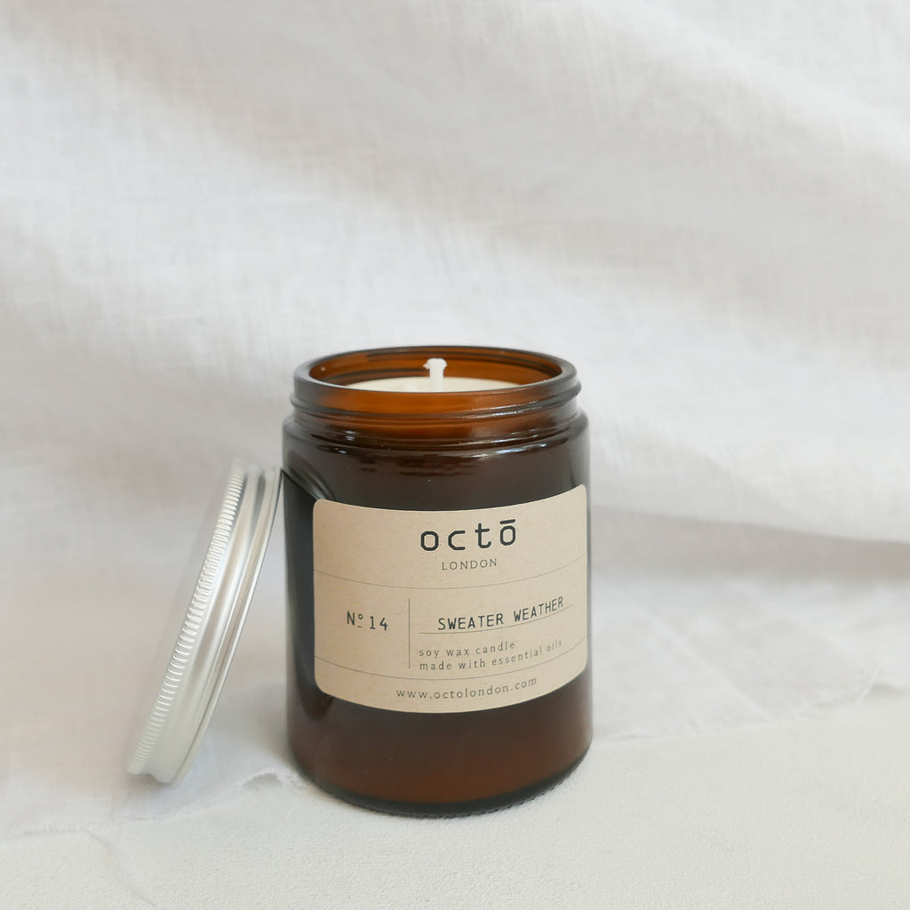Octo candles: Sweater weather