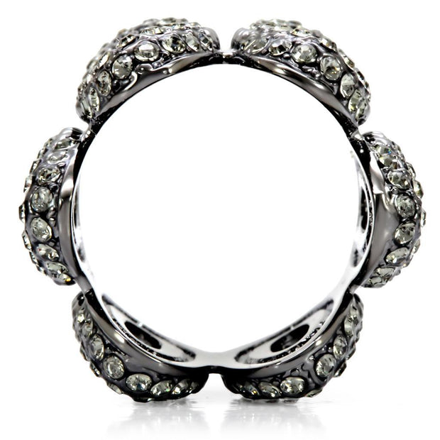Ruthenium Brass Ring with Top Grade Crystal Women - Jewelry - Rings Alamode Fashion Jewelry Outlet