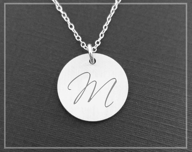 Personalized Initial Necklace - Sterling Silver Women - Jewelry - Necklaces Sincerely Silver