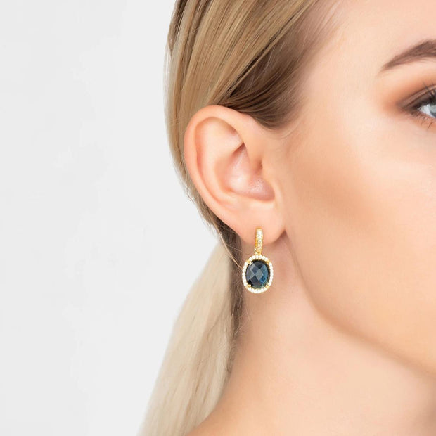 Beatrice Earrings Gold Sapphire Hydro Women - Jewelry - Earrings LATELITA LONDON