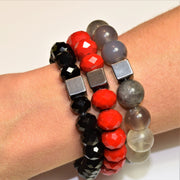 Cube Hematite Bracelet - Cherry Women - Jewelry - Bracelets ClaudiaG Collection