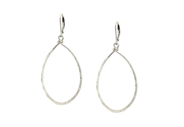 Hanna Hammered Hoops Med Jewelry & Accessories - Earrings Agapantha Jewelry Sterling Silver