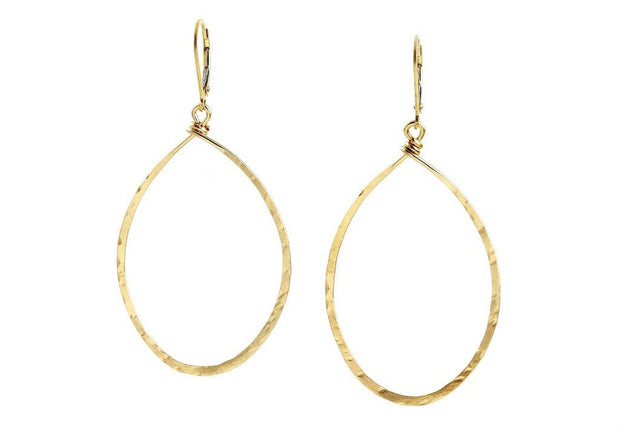 Hanna Hammered Hoops Med Jewelry & Accessories - Earrings Agapantha Jewelry 14k Gold Fill