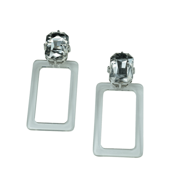 Zully Earrings- Clear Women - Jewelry - Earrings ClaudiaG Collection
