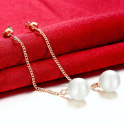 Freshwater Pearl Dangling Link Earrings Riakoob
