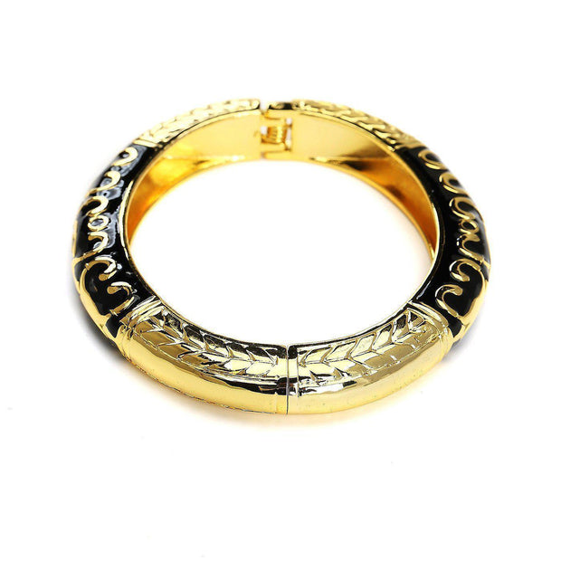 Quotient Black & Gold Fashion Bangle Jewelry & Accessories - Bracelets & Bangles Blinglane®
