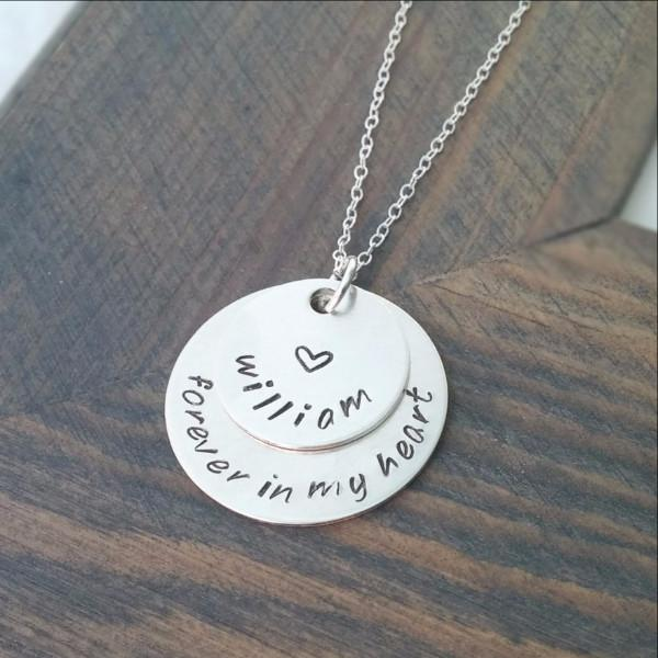 Personalized Forever in My Heart Necklace Women - Jewelry - Necklaces Gracefully Made Jewelry