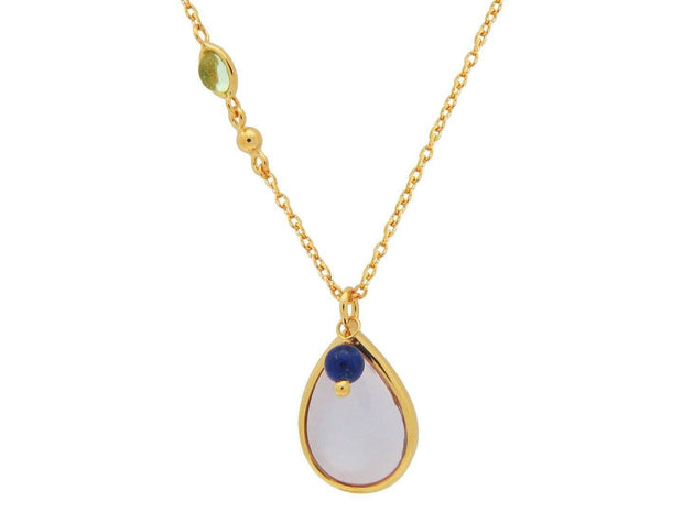 Natural Stone (Peridot, Lapis) Necklace Jewelry & Watches Blue Simba