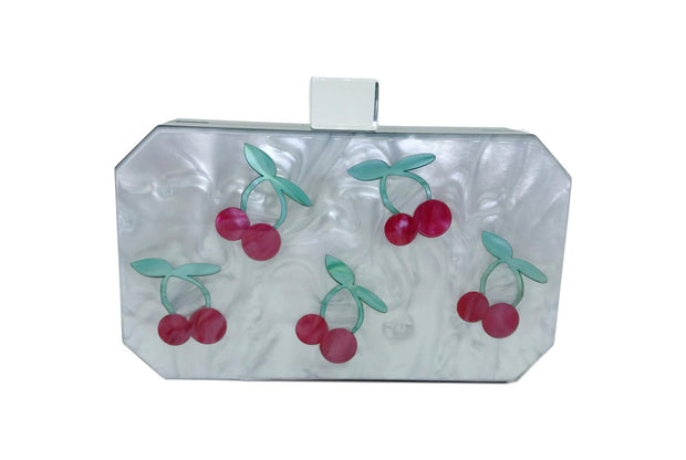 Cherry Luctie Acrylic Box Clutch Bags & Wallets Salmon Misty