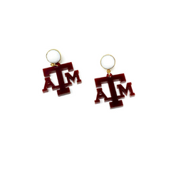 Texas A&M Aggies Small Gems Statement Earrings