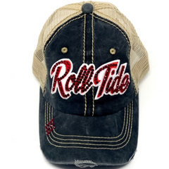 Alabama Crimson Roll Tide Womens Bling Baseball Hat