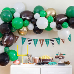 Balloon garland football party decor homegate tailgate
